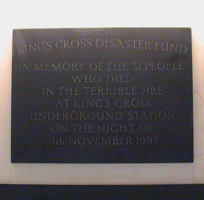 King's Cross fire - names : London Remembers, Aiming to