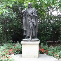 John Wesley statue - St Paul's