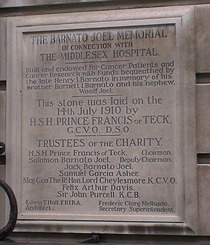 Middlesex Hospital and Barnato and Joel