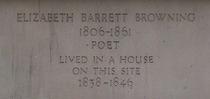 Elizabeth Barrett Browning stone inscription