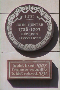 John Hunter plaque