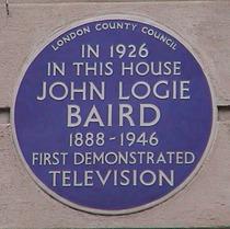 John Logie Baird and TV demonstration