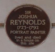 Sir Joshua Reynolds plaque