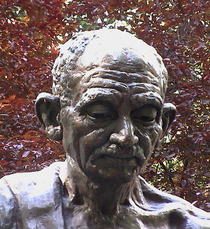 Gandhi statue - Bloomsbury