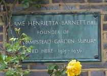 Henrietta Barnett plaque