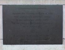First underground passenger railway - LT plaque