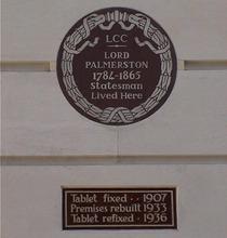 Lord Palmerston - Carlton Gardens
