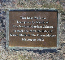 Queen Mother Rose Walk