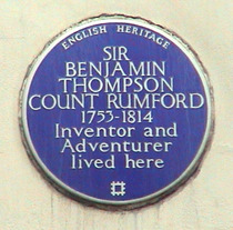 Sir B Thompson Count Rumford