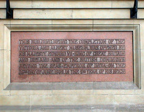 V&A façade foundation stone, Edward