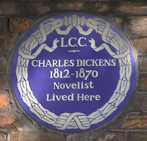 Charles Dickens Museum - blue plaque