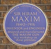 Sir Hiram Maxim and his gun