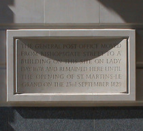 General Post Office plaque