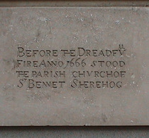 St Benet Sherehog Church - stone