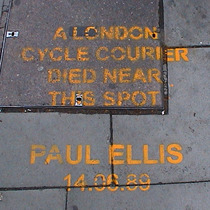 Paul Ellis, cycle courier