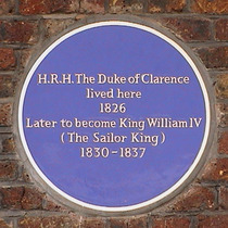 King William IV when Duke of Clarence