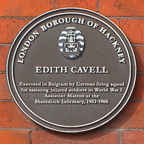 Edith Cavell plaque