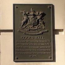 Cooks' Hall - bronze plaque