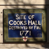 Cooks' Hall - blue plaque