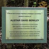 Alistair Berkley and the Lockerbie bombing