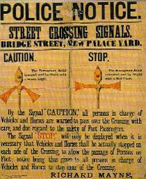 First traffic lights in world