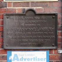 Minnie Lansbury - first plaque