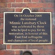 Minnie Lansbury - second plaque