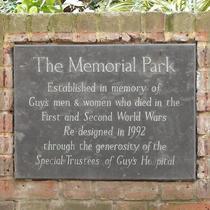 Memorial Park at Guy's Hospital