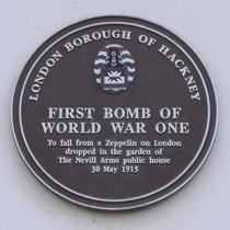 First Zeppelin bomb of WW1 - incorrect