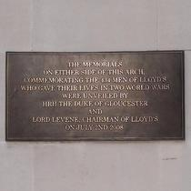 Lloyd's of London war memorial plaque
