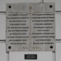 Free French plaque