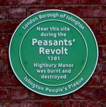 Peasants' Revolt & Highbury Manor