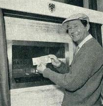World's first cash machine
