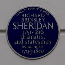 R. B. Sheridan - Hertford Street