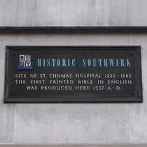 St Thomas' Hospital and bible