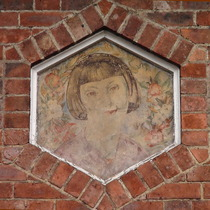 mystery girl wall painting