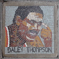 South Bank mosaic - Daley Thompson