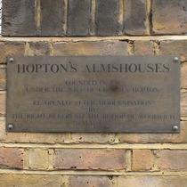 Hopton's Almshouses - left pier