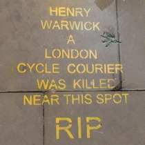 Henry Warwick, cycle courier