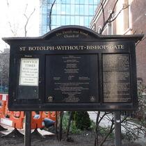 St Botolph's information board
