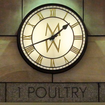 1 Poultry - Mappin & Webb clock