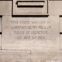 Islington Library foundation stone
