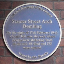 Stainer Street Arch Bomb