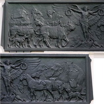 Animals War Memorial Dispensary - bronze frieze
