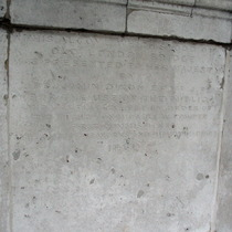 London Bridge alcoves in Victoria Park - inscription