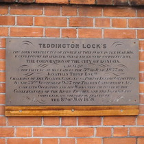 Teddington Lock - 1858