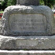 Holy Trinity Clapham - war memorial cross