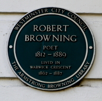Robert Browning - W2 Westminster plaque
