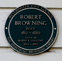 Robert Browning - W2 Westminster plaque