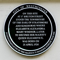 Queen Elizabeth's birthplace - Diamond Jubilee